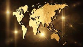 La carte 3D du monde rendent Images libres de droits