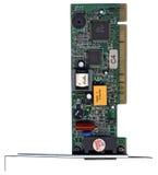 la carte de condensateurs ébrèche le PCI de microcircuit d'Ethernet Images libres de droits