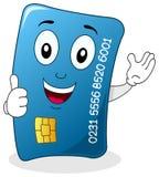 La carte de crédit avec des pouces lèvent le caractère Photographie stock libre de droits