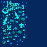 La carte de Joyeux Noël avec des anges, papier a coupé le type Photographie stock