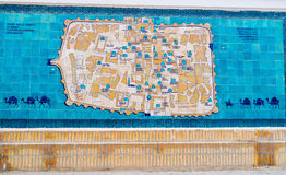 La carte de Khiva Photo stock