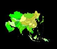 La carte de l'Asie illustration libre de droits