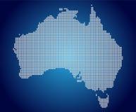 La carte de l'Australie, pixel illustration de vecteur