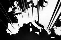 La carte de l'Europe Photos libres de droits