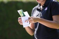 La carte de marquage aux dames de Fourqueux ouvrent 2013 Image libre de droits