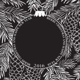 La carte de Noël illustration de vecteur