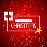 La carte de Noël avec le rouge scintille fond illustration de vecteur