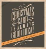 La carte de Noël est toujours bonne idée Photographie stock libre de droits