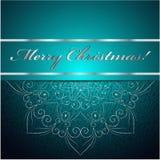 La carte de Noël peut être employée pour la décoration de site Web illustration libre de droits