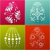 La carte de Pâques avec 4 a décoré des oeufs Photos libres de droits