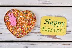 La carte de Pâques heureuse, arrosent des points Images libres de droits
