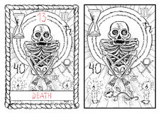 La carte de tarot principale d'arcana death illustration de vecteur