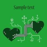 La carte de Valentine Photo libre de droits