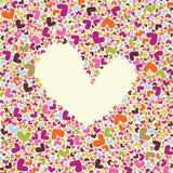 La carte de Valentine Photos stock
