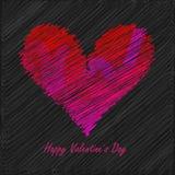 La carte de Valentine Images libres de droits