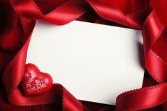 La carte de Valentine Image libre de droits