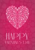La carte de Valentine Image stock