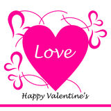 La carte de Valentine Photographie stock libre de droits