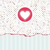 La carte de Valentine avec l'espace de copie. ENV 8 Image stock