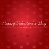 La carte de Valentine - soyez ma valentine Image stock