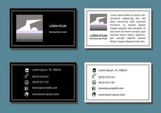 La carte de visite professionnelle de visite de conception d'entreprise a placé le vecteur de deux couleurs illustration libre de droits