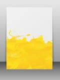 La carte de voeux avec la peinture éclabousse. Photographie stock