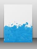 La carte de voeux avec la peinture éclabousse. Photo stock