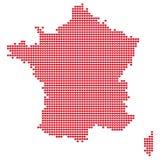 La carte des Frances Image stock