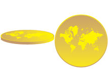 La carte du monde présenté Photographie stock libre de droits
