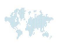 La carte du monde se compose des baisses de pluie Concept sur des conditions atmosphériques de météorologie et Illustration plate illustration libre de droits