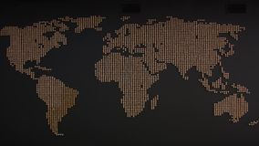 La carte du monde sur le mur banque de vidéos