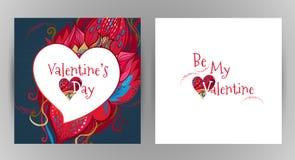 La carte florale romantique de vecteur soit mon Valentine Photographie stock libre de droits