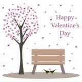 La carte heureuse de Valentine Image libre de droits
