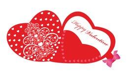 La carte heureuse de Valentine. Photo libre de droits