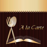 A la Carte Menu Royalty Free Stock Photo