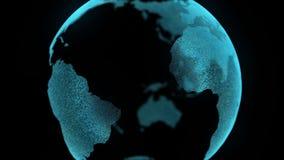 La carte numérique de mouvement de la terre bourdonnent dedans concept d'affaires banque de vidéos