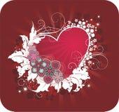 La carte postale de Valentine Images stock