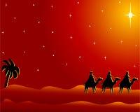 La carte postale wisemen à Bethlehem Images stock