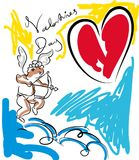La carte pour le jour de valentines illustration de vecteur