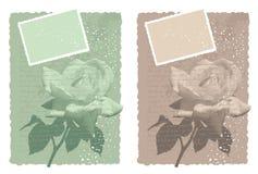 La carte romantique avec s'est levée Photographie stock libre de droits