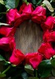 La carte romantique du jour de Valentines de saint avec des roses copient l'espace Photos libres de droits