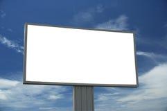 La cartelera en blanco, apenas agrega su texto Fotos de archivo