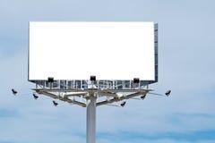 La cartelera en blanco, apenas agrega su texto Imagen de archivo
