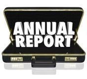 La cartella del rapporto annuale esprime il rendiconto finanziario Fotografia Stock Libera da Diritti