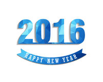 La cartolina d'auguri 2016 del buon anno ha stilizzato il modello poligonale del triangolo Fotografia Stock