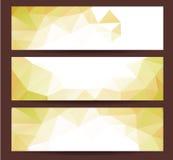 La cartolina d'auguri 2016 del buon anno ha stilizzato il modello poligonale del triangolo Immagine Stock Libera da Diritti