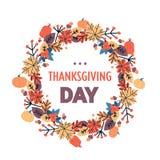La cartolina d'auguri tradizionale di festa del raccolto di ringraziamento di autunno felice del giorno ha isolato il piano royalty illustrazione gratis