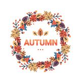 La cartolina d'auguri tradizionale di festa del raccolto di ringraziamento di autunno felice del giorno ha isolato il piano illustrazione vettoriale