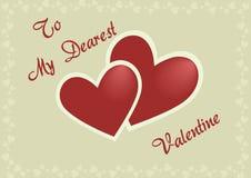 La cartolina del biglietto di S. Valentino royalty illustrazione gratis