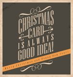 La cartolina di Natale è sempre buona idea Fotografia Stock Libera da Diritti